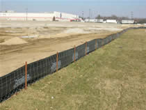 Silt Fence Used at Wal-Mart Construction Site